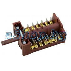 Ключ 7(6+0) позиции 14-изв.(870628 04-16/0399 C005/044)250VAC/16A на фурна за вграждане,Nardi