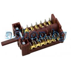 Ключ 7(6+0) позиции 14-изв.(870627 10-13/1133 C005/120)250VAC/16A на фурна за вграждане,Nardi  FEX-4761 N4 340F