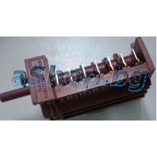 Ключ 6+0 позиц.14-изв.(870627 10-13/1133 C005/120)250VAC/16A на фурна за вграждане,Nardi  FEX-4761 N4 340F
