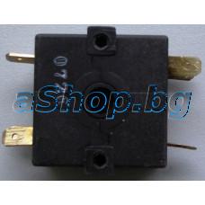 Въртящ ключ за кафем.13(2)A250VAC,32x36x18mm,6-изв,Taurus Trento