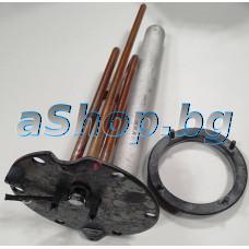 Нагревател к-т с фланец и анодна защита 230V/2000W за бойлер,Atlantic ES-1498,Atlantic 861213(VM 120 D400-1-M)2000W