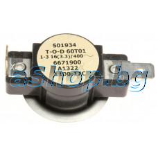 Термостат биметален 100°C,TNR2238340,T-2061L240-978,L100-17,2-изв. за сушилня,Miele Txxxx