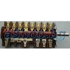 Ключ 8H/36 13-изв.7-позиционен 250VAC/10(16)A за ел.готварска печка,Mastercook/,,,,,