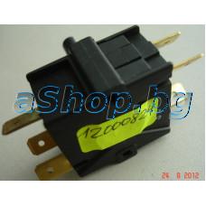 Въртящ се ключ за режими на работа Defond AYA-2215,13A/250VAC с ос 24мм,6-изв.x6.35mm на кафемашина,Philips-Saeco Poemia HD-8323,8325