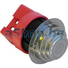 Термостат биметален 57-80C NC, 3-изв.x6.35mm от авт.пералня със сушилня,Zanussi Advantage LC400(914240880)