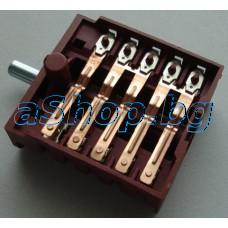 Ключ BC5-11 12-изв.4+1-позиционен 250VAC/16A за ел.готварска печка,,Snaige SGM-5050/6060,NEO