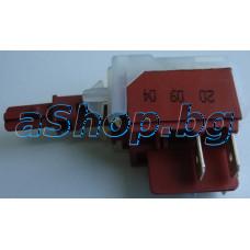 Бутон-ключ Deka от автоматична пералня 220VAC/16A,2-кон.гр.4-изв.x6.35mm,Sang WMA-7612M,Beko WB-7010M