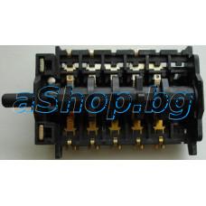 Ключ 103(4073/10) 10-изв.6+0 -позиционен 250VAC/16A за котлони на  ел.готварска печка,Kumtel,Luxell,Diplomat