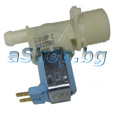 Елмаг.клапан 230VAC/50-60Hz,ED 100%,Tu90°C/Tm25°C,1-way 90°,d14mm/изход за авт.пералня