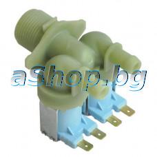 Двоен елмаг.клапан 230VAC/50-60Hz,ED 100%,Tu90°C/Tm25°C,2-way  за авт.пералня, Beko WMD-25100TS,26100,25080