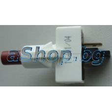 Ключ/бутон за прах.250VAC/7А,On/Off,2-изв.ъгл.,АМП=4.8мм,Sang/CH-801