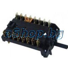 Ключ 3085/5 с 17-изв.8(7+0) позиц.250VAC/16A за ел.гот.печка,Bompani BO-247YB/YA/KB