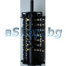 Ключ 4085/1 ,12-извода 8(7+0)-позиции 250VAC/16A за ел.готварска печка,Bompani BO-683JA/YA-N