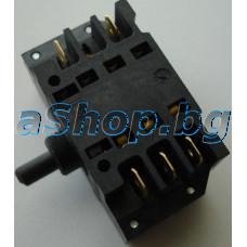 Ключ (41.32723.809-EGO) 10-изв.7-позиц.250VAC/12A за ел.гот.печка с ос 10мм,BOMPANI/xxxxxx