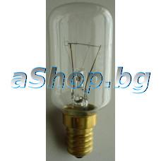 Лампа за фурна на готв.печка с цокъл - E14,40W ,230-240VAC за 300°C,d29x74mm,AEG B3191-5-M,Electrolux