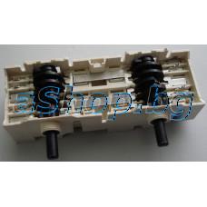 Ключ двоен(с 2 секции) 21-изв.7-позиц.250VAC за керамичен плот,AEG,Electrolux EHC-320X