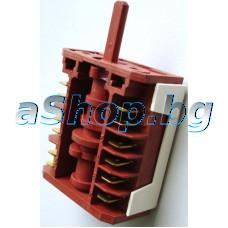 Ключ 4+0-позиц.12-изв.250VAC/16A  T150 за фурната на готв.печка,Zanussi,AEG