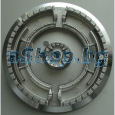 Дуралум.горелка-пръстен d142мм за газов котлон на плот,Bompani/BO-293JE
