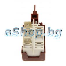Ключ 250VAC/16A двоен (2x3 pin)3-изв.6.35мм за печка + миялна,Candy Trio 503-1X