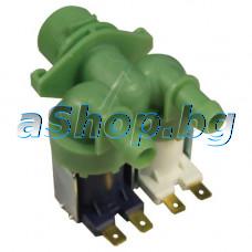 Електромагнитен клапан-двоен с един вход 2x6VA/220-240VAC/50Hz за перална машина ,Candy/...