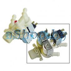 Електромагнитен клапан-троен с един вход 2x6VA/220-240VAC/50Hz за перална машина ,Candy/CDB-134Y