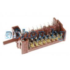Ключ 8+0 позиц. 13-изв. 250VAC/16A за готв.печка,Candy CDM-5625SHPW