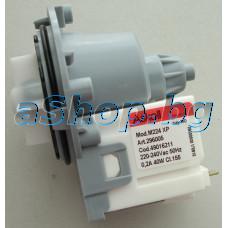 Помпа за вода на авт.пералня-универс.без тръбна част,220VAC/50Hz,40W,0.2A,Cl.155,Askoll-Art.296005