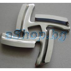 Нож (ос квадрат,4-пера под наклон) за месомелачка,Braun 4195,G1300/1500/3000