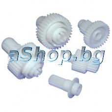 Зъбни колела к-т 5-бр. 67051332/BR67051332 от миксер, Braun 4642/4643,Kenwood