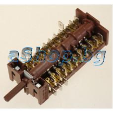 Ключ 10(0+9)позиц.22-изв.220VAC/16A,801001-Gottak за фурна на готварска  печка,Amica,Hansa FCMW58128010,NEO