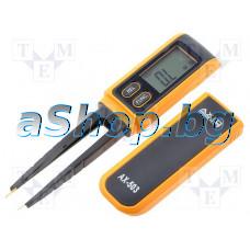 Цифров мултиметър-тип пинсета,LCD 3,75 цифри (6000) за SMD елементи,400om..40Mom,4nF..200uF,test Di,Axiomet