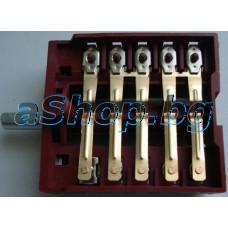 Ключ 6-тактов,5+0-позиц.12-изв.250VAC/16A  T150 за фурната на готв.печка,Snaige SGM-5050/6060,NEO