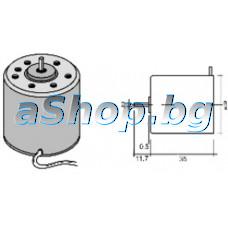 Електродвигател -DC 12.0V,десен(CW)/голям d38x35мм,1-скорост/2400rpm,с d2x9мм,BFG 2R05