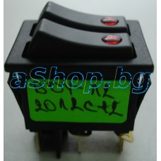 250VAC/16A,двоен/2P-общ,25x31x31мм,6-изв./6.3мм,без изол. за проточен бойлер,Tesy/Geyser Sink
