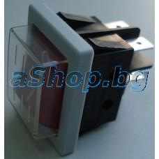 Захр.ключ 250VAC/16A,двоен-2P-общ,21x26x30мм,4-изв.,6.3мм,черв.бут.изол.,TESY/EN 80/36/2.0 TS 0262 023