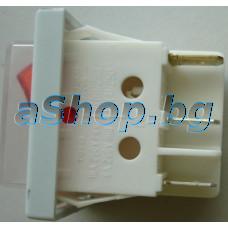 250VAC/16A,двоен/два бутона,21x26x30мм,6-изв./6.3мм,черв.бут.изол.,Tesy/GCV-80/36/24D TS2RA ANTICALC