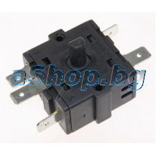 Ключ 5-изв.3+0, 250VAC/15A за вент.печка,Rowenta SO-5010FO-7XO