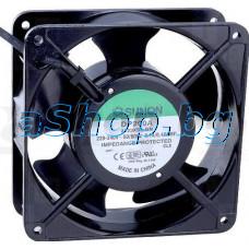 Вентилатор120x120x38mm,220VAC/50Hz,0.14A/22W,161m3/h,Sunon DP-200A,2123XSL