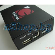 Емулатор на CD-changer к-т за BMW/Mini/Rover с вход за IPod/IPhone,EXT,USB памет+Bluetooth,Grom Audio