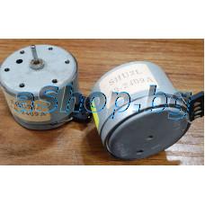 Електродвигател DC12V-CCW ляв,d35x25mm,ос d2x10mm,2-скорости,2000/4000rpm,Sankyo SHU2L-03 series,SHU2L-03-2409A
